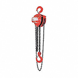LHH Hand Chain Hoist, 1/2T, 10Ft Lift