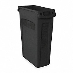Trash Container, Venting, 23 G, Black