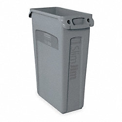 Trash Container, Venting, 23 G, Gray
