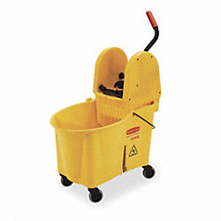 Mop Bucket and Wringer, 44 qt., Yellow