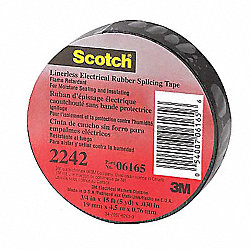 Electrical Tape, 1-1/2x30 ft, 30 mil, PK 12
