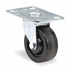 Swivel Plate Caster, 250 lb, 3 In Dia