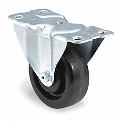 Rigid Plate Caster, 450 lb, 4 In Dia