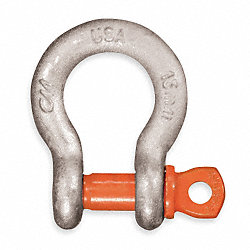 Screw Pin Anchor Shackle, 3000Lb, 7/16In