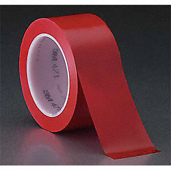 Film Tape, Vinyl, Red, 1/2 In x 36 Yd, PK72