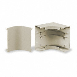 Raceway Internal Elbow, Metallic, Ivory
