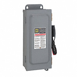 Safety Switch, Fusible, 2PST, 600A, 240V