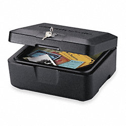 Fire-Safe Box, 0.15 Cu-Ft