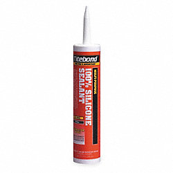 Silicone Sealant, 10.1 Oz, White