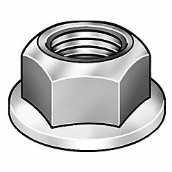 Hex Locknut, 6-32, 0.305 In W, PK 250