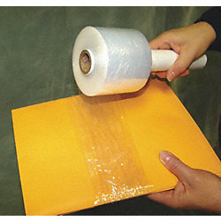 Hand Stretch Wrap, Clear, 700 ft.L, 3In W