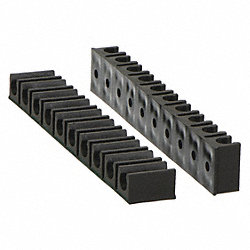 Tube Rack, 7 Channels, 3/8 In, Black, PK 2