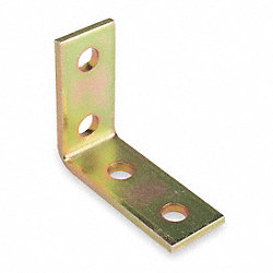 Angle Bracket, 90 Deg, 4 Holes, Gold