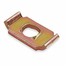 Saddle Washer, 3/8 or 1/2 In, Gold, PK50