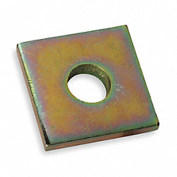 Washer, Square, 1/2 In, Gold, PK25