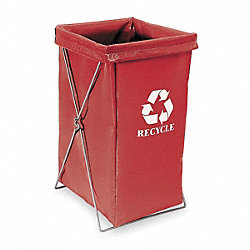 Enviro Hamper Bag, 30 gal, Red Vinyl