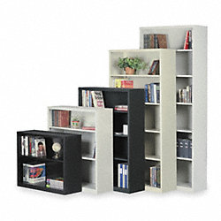 Bookcase, Steel, 3 Shelf, 42Hx34 1/2W In