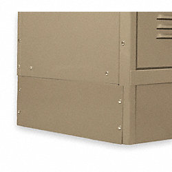 Locker End Base, D 18 In, H 6 In, Tan