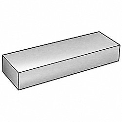 Bar, Rect, Stl, 1018, 1/2 x 2 In, 1 Ft L