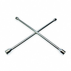 Lug Nut Wrench, 4 Way, L 25 In