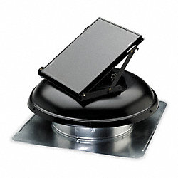 Attic Ventilator, Solar Powered, Black