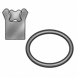 Rod Seal, 2 1/4 ID x 3 OD, 3/8 W x 1/2 H