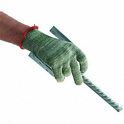 Cut Resistant Gloves, Green, M, PR