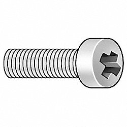Mach Screw, Flstr, 10-32x1/4 L, PK500