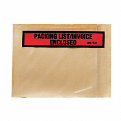 Packing List Envelope, Clear, PK 1000