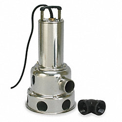 Submersible Sewage Pump, 1/2 HP, 115 Volt