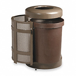 Waste Receptacle, Side Door, Bronze, 38G