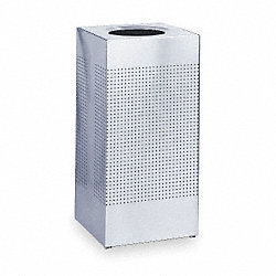 Square Waste Receptacle, 24 G, SS