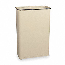 Rectangle Wastebasket, 24 G, Almond