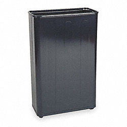 Rectangle Wastebasket, 24 G, Black
