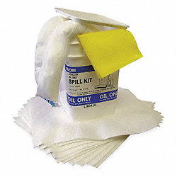 Spill Kit, 15-1/4 In H, 3 gal., Oil Only