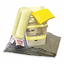 Spill Kit, 15-1/4 In H, 3 gal., HazMat