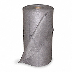 Absorbent Roll, Gray, 30 In. W, 48 gal.