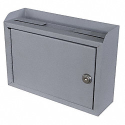 Suggestion Box, Steel, Gray, 3