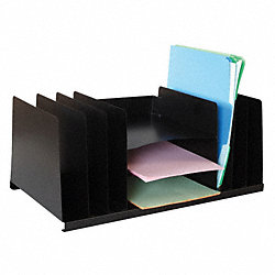 Organizer, Letter, Blk, 9 Compartment