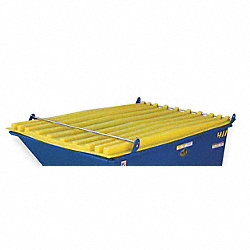 Hopper Lid, Yellow, Fits 54 cu. ft.