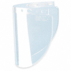 Faceshield Visor, Propionate, Clr, 8x16-1/2