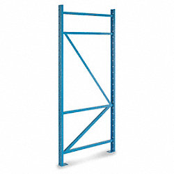 Pallet Rack Upright Frame, 48D x 96H, Blue