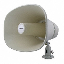 Horn, Weatherproof, 11 x 8 In, 30W