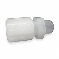 Male Straight Adapter, 1/4 In Tube Sz