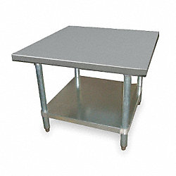 Utility Stand, W 24 In, D 24 In, SS, w/Shelf
