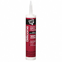Silicone Rubber Sealant, Clear, 10.1 Oz