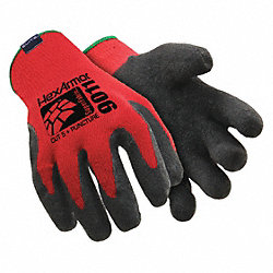 Cut Resistant Gloves, Red/Black, L, PR