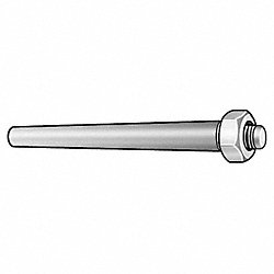 Taper Pin, Threaded, Carbon, 5/8-18x6 15/16