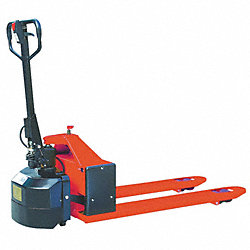Semielectric Pallet Jack, Red, 24V