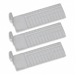 Short Drawer Dividers, 2-1/4 In H, Clr, PK3